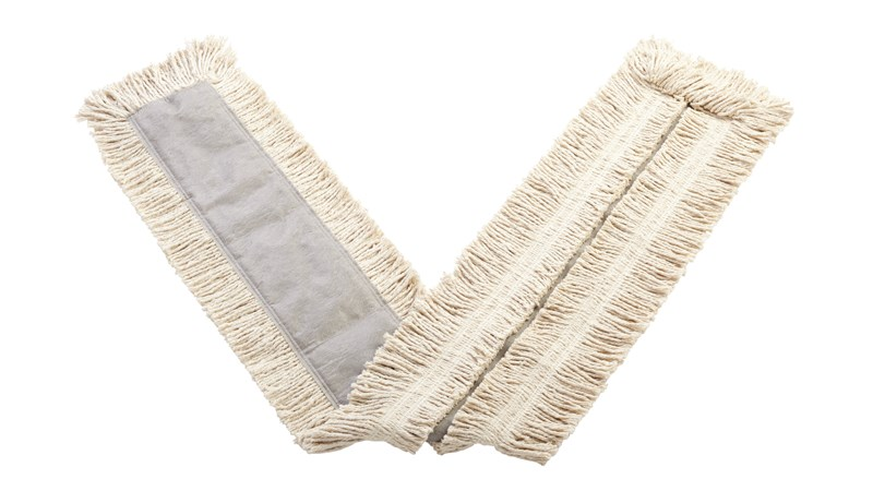 """Blended Cut-End Disposable Dust Mop 60"""" has soft, open-twist, blended, cut-end yarn for increased dust pickup."""