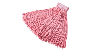 Synthetic Blend Hot Mop is an economical wet mop for abrasive and hot surfaces.