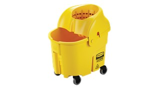 The WaveBrake® Institutional Mop Bucket and Wringer features non-metal construction ideal for correctional facilities and healthcare.