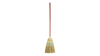 The Rubbermaid Commercial Corn Broom is designed for rugged indoor/outdoor cleaning.