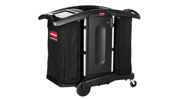 Executive Compact Housekeeping Cart - High Capacity, Black