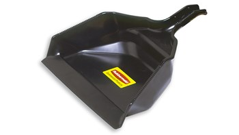 "Extra-Large Dust Pan 16"" FG9B5900 is made of heavy-duty plastic."