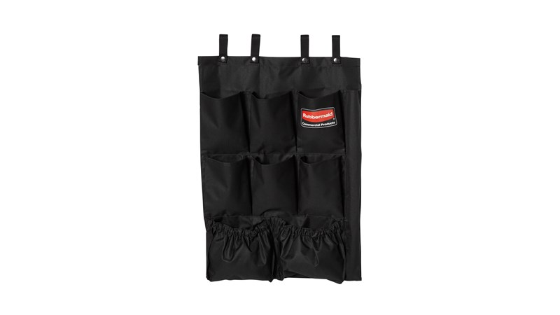 The 9-Pocket Organizer is designed to increase productivity by providing extra organization for housekeeping or janitor carts.