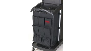 The Rubbermaid Commercial 9-Pocket Organizer is designed to increase productivity by keeping a housekeeping or janitor cart organized