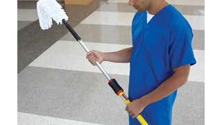 HYGEN™ Microfiber Quick-Connect Flexi-Wand and Duster helps remove dust from crevices and hard-to-reach places.