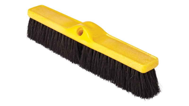 "Medium Floor Sweep 18"" FG9B0700 is a push broom designed to round up heavier dirt from multiple floor surfaces."
