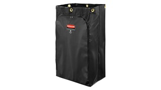 The Rubbermaid Commercial Vinyl Bag for Traditional Janitorial Cleaning Carts is ideal for collecting refuse, launderable items, or transporting tools and supplies.