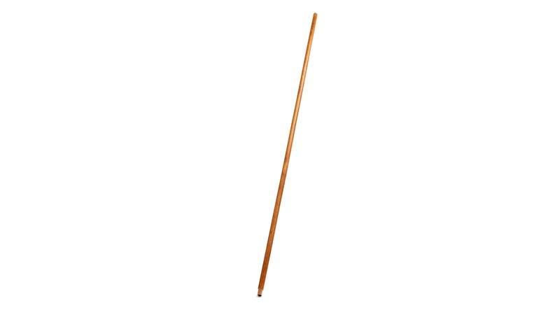 Threaded Tip Wooden Broom Handle with Lacquered Finish