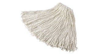 The Rubbermaid Commercial Value Pro Cut-End Wet Mop is perfect for general purpose cleaning. The floor mop is made from recycled cotton (up to 100% post-industrial cotton) and features a 1-inch headband.