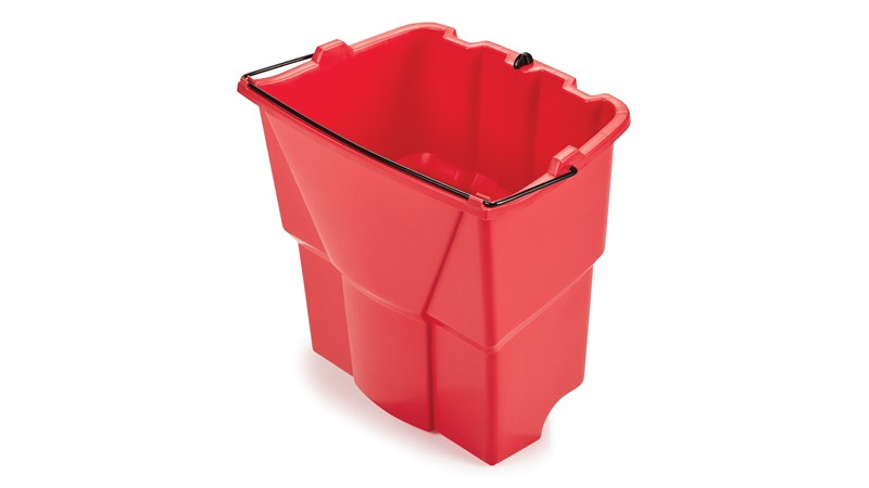 The Rubbermaid Commercial WaveBrake® Dirty Water Bucket keeps dirty water separate from clean water, helping to reduce the potential for cross-contamination. Executive Series™ WaveBrake® include the dirty water bucket as standard.