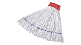 The Rubbermaid Commercial Rough-Surface Wet Mop is the economical choice for aggressive floor surfaces.
