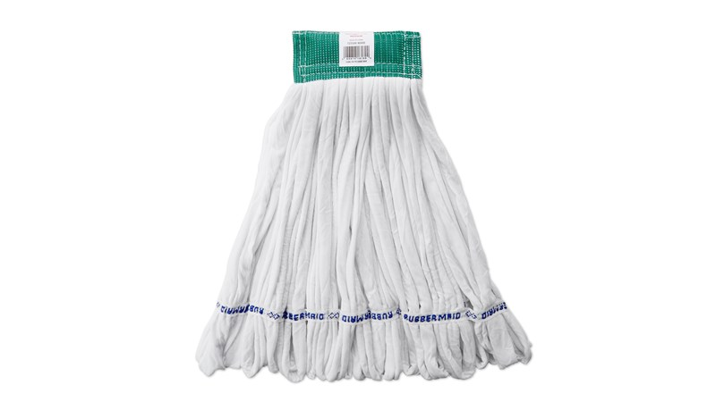 The Rough-Floor Wet Mop is an economical choice for abrasive floor surfaces.