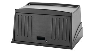 The Executive Protective Security Hood for Traditional Housekeeping Carts secures and conceals supplies and amenities stored on the top of the cart.
