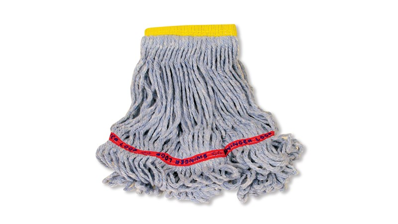 4-ply, balanced blend of cotton and synthetic yarn for absorbency and strength. Launderable for long product life.