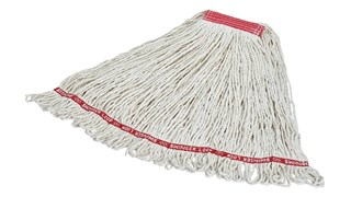Swinger Loop® Mop features looped -ount for increased durability and better floor coverage.
