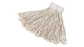 The Rubbermaid Commercial Super Stitch Cotton Mop is an economical, general-purpose floor mop.