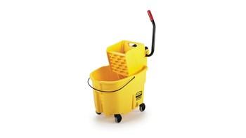 WaveBrake® 35 QT Side Press Bucket and Wringer, Yellow