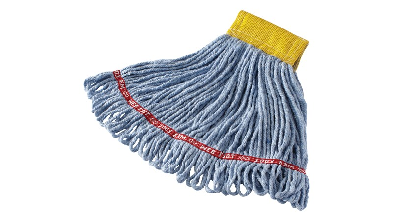 The Rubbermaid Commercial Web Foot® Wet Mops contain antimicrobial product protection, which inhibits the growth of bacteria that cause odors & stains.