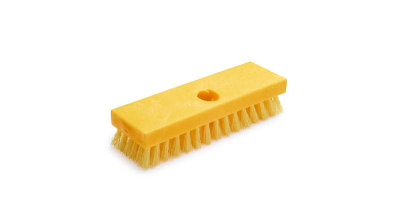 Deck Brush FG9B3600 is a high quality deck brush. Plastic block resists splitting and delaminating.