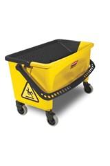 HYGEN™ Microfiber Charging Bucket, Press Wringer, Yellow