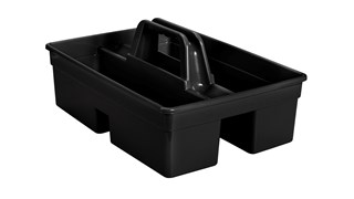The Divided Carry Caddy is an all-purpose caddy designed for carrying tools or cleaning supplies.