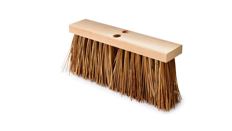 Street Broom FG9B2200 is a street sweep for the most demanding rough surfaces. Wide flared ends for greater floor coverage and ease when sweeping close to walls or curbs. Accepts tapered handles. Hardwood Block. Palmyra Fill. Handles sold separately.