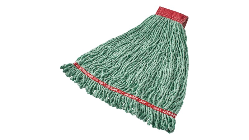Prelaundered and preshrunk or increased mop performance after laundering.