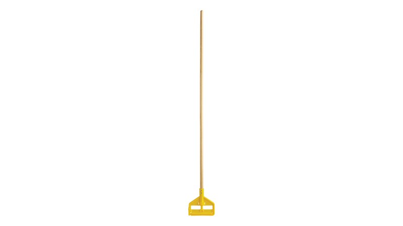 "Invader® Side-Gate Mop Handle makes removing and replacing mop heads easy and efficient. Thumbwheel clamps the mop firmly in place; should be used with 1""  headband mops only."