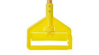 "Invader® Side Gate Handle's thumb wheel clamps the mop firmly in place; should be used with 1"" (2.5 cm) headband mops only."