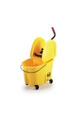 WaveBrake® 35 QT Down Press Bucket and Wringer, Yellow