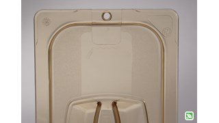 Heavy Duty hot insert pan cover with handle and peg hole for sanitary drying