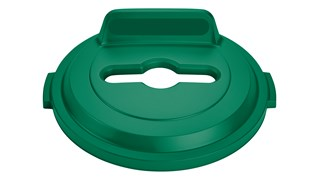The Rubbermaid Commercial BRUTE® recycling lids are designed to make recycling easier with consistent color-coding, lid openings and waste stream options.