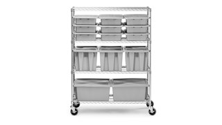 Commercial grade racks compatible with ProSave shelf ingredient bins