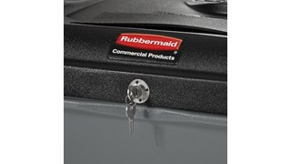 The Rubbermaid Commercial Rollout confidential waste containers offer a comprehensive secure document solution to help meet HIPAA needs.