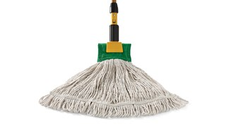 The Rubbermaid Commercial Super Stitch® Blend Mop outperforms and outlasts premium cut-end mops 2 to 1.