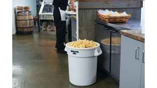 Straight wall design and inmold branding make containers ideal for use in food-handling environment.