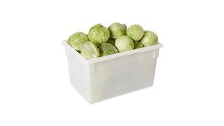 The Rubbermaid Commercial Food Storage Container reduces food spoilage costs with a durable polyethylene construction.