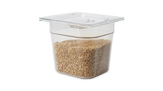 The Rubbermaid Commercial Cold Food Pan is break resistant. It won't rust, dent, or bend, and is quieter than metal.